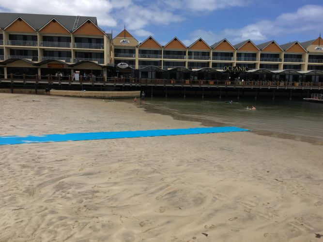 The matting at Swimmer's Beach will be available until the end of January.
