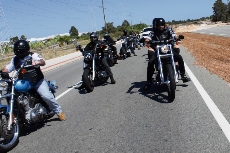 Motorcyclists from last year's event.