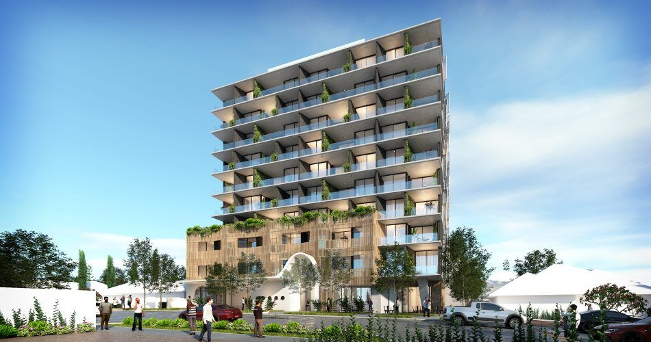Artists' impression of the proposed 10-storey development on 117 - 119 Lockhart Street in Como. Picture: Hillam Architects