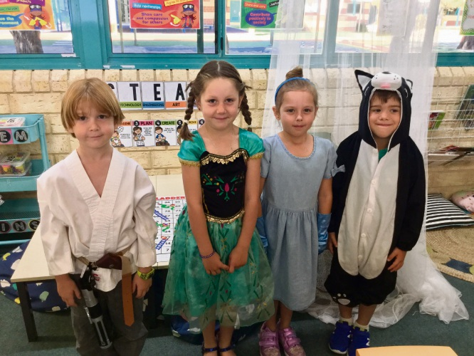 Alexander Mains, Madison Dixon, Emily Pearce and Ben Ball were just a few of the students who went to school as their favourite book character.