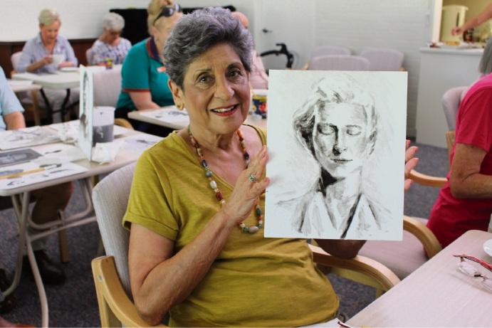 Moline village resident June Collins.