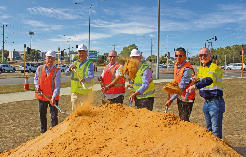 The Wanneroo Road-Ocean Reed Road interchange sod-turning.