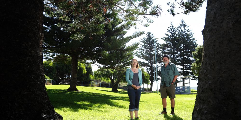 Jo Baker (Edgewater) and Rob Phillips (Wanneroo) from the West Coast Wilderness Group. Picture: Martin Kennealey d491552