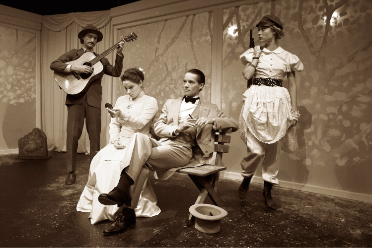 Second year WAAPA acting students in The Cherry Orchard.