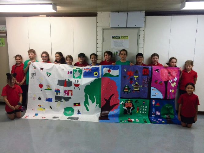 Hillman PS students create mural