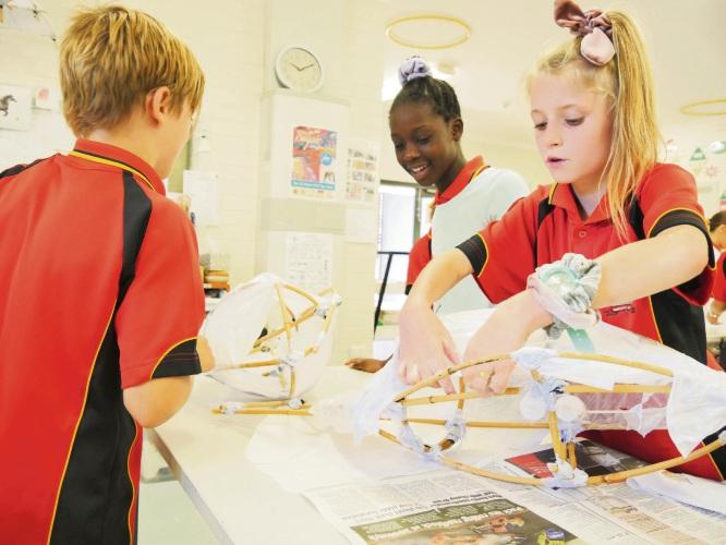 Hillcrest Primary School students Max Morris (Year 5), Dannita Herman and Jaedah Morgan (Year 6)
