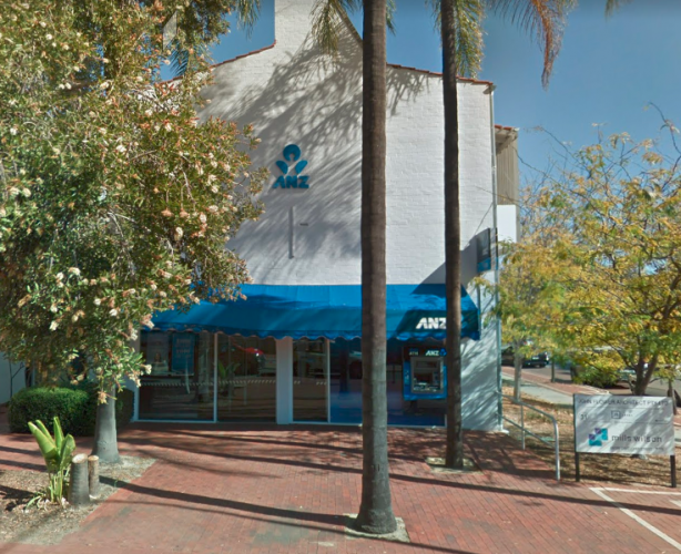 ANZ Bank in Nedlands along Broadway. Photo credit: Google images.