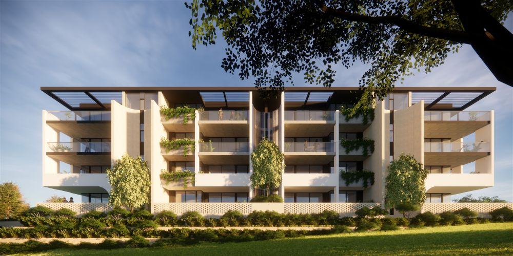 An artist impression of the proposed apartments that could replace the Mullaloo Squash Centre.