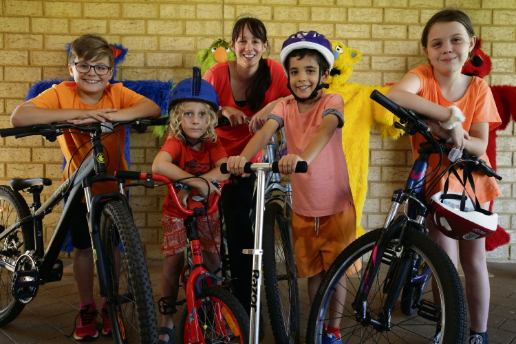Principal Tammy Hanrahan with Archie Calverley (Year 4), Phoenix Coyle (Year 1) , Bailey Galbraith (Year 3) and Isabelle Seear (Year 5). Picture: Martin Kennealey d491595