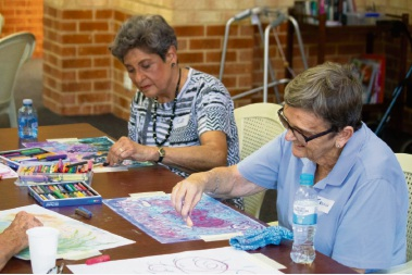 Aged care residents make music with their art at St Mary's Church