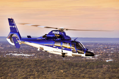A WA Police Helicopter in action. Picture: File image
