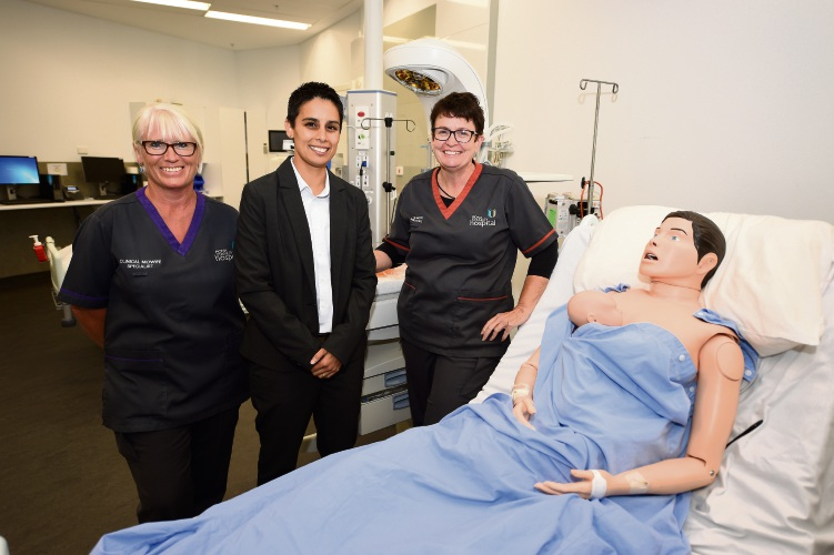 Amanda Bath, Renee de Prazer and Jane O'Shea have been named as finalists in the WA Nursing and Midwifery Excellence Awards. Picture: Jon Hewson