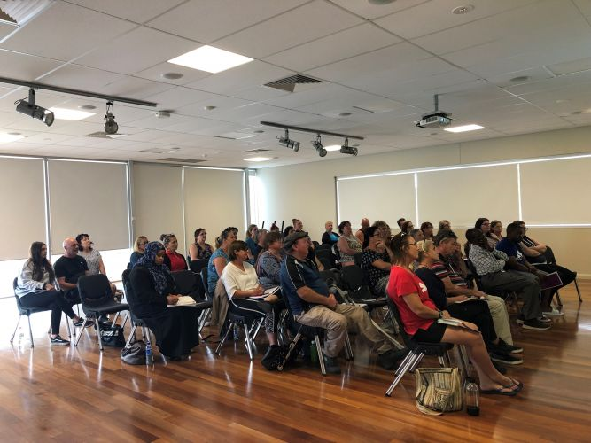 Participants at an NDIS information session in Rockingham.