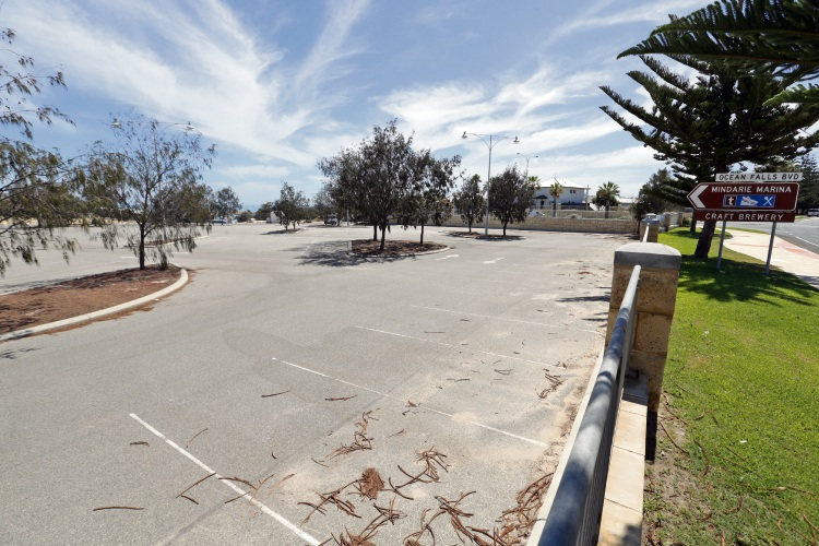A boat storage facility was proposed for the Mindarie marina car park. Picture: Martin Kennealey d491742