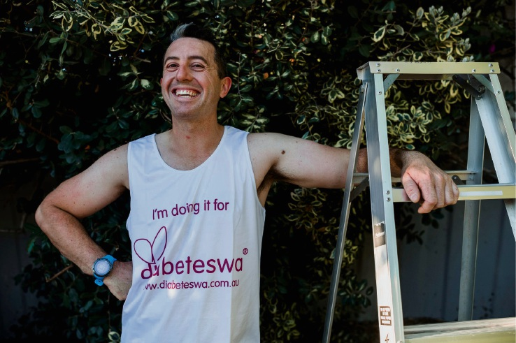 Scott Drysdale will attempt to climb Jacob's Ladder for 24 hours for Diabetes WA on April 5. Photo: Supplied.