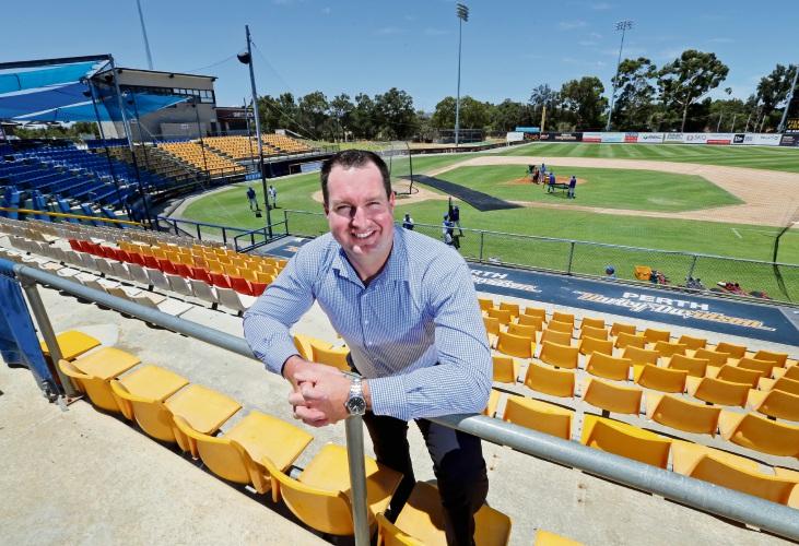 Baseball WA CEO Lachlan Dale at Perth Ballpark. Photo: David Baylis.