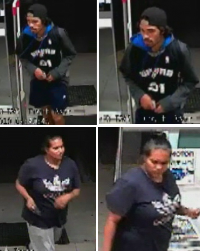 Kwinana Police would like to speak to the people pictured in relation to a the theft of items from a motor vehicle in Orelia. Call 9411 4311 and quote 27/19.