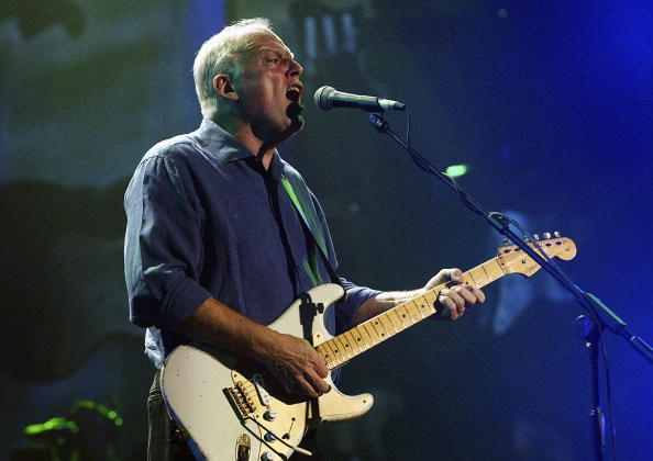 Gilmour with silver strat. Photo: Getty