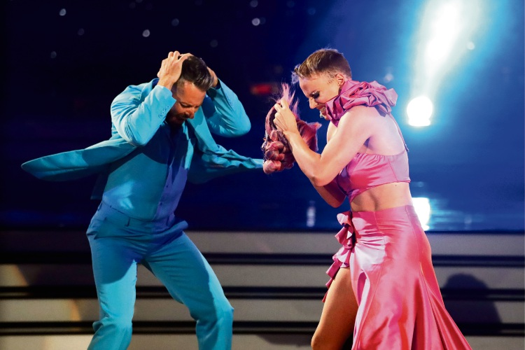 Josh Keefe and Courtney Act magic on Dancing With The Stars