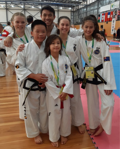 Karrinyup taekwondo students win gold at world championships