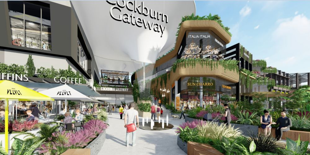An artist impression of the proposed Cockburn Gateway expansion.