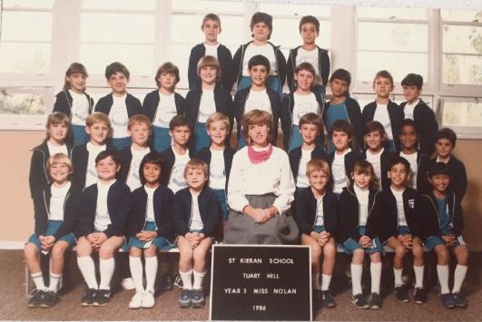 St Kieran Catholic Primary School year 3 class of 1986.