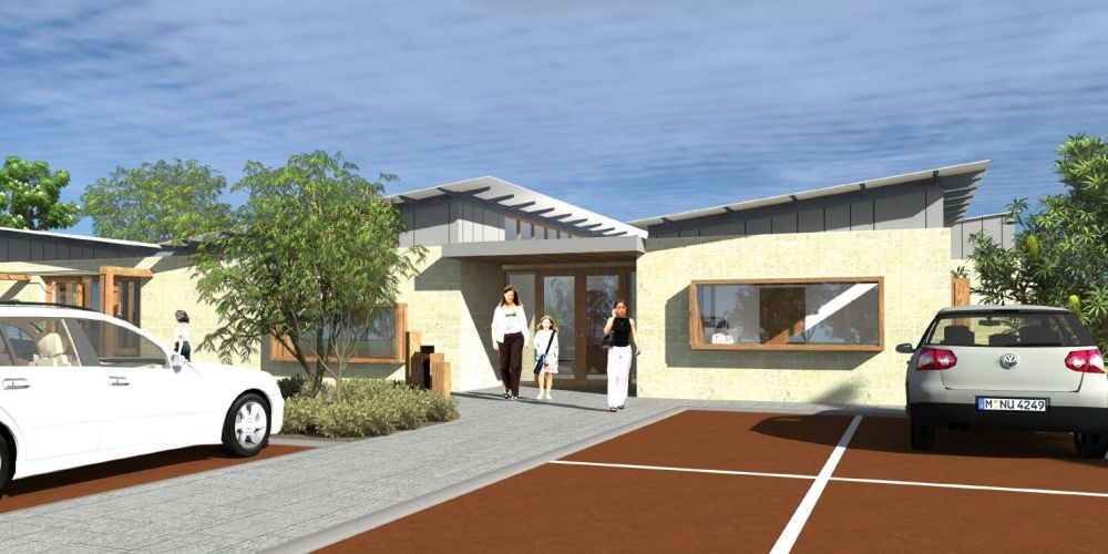 An artist's impression of the Harbour Elbow childcare centre.