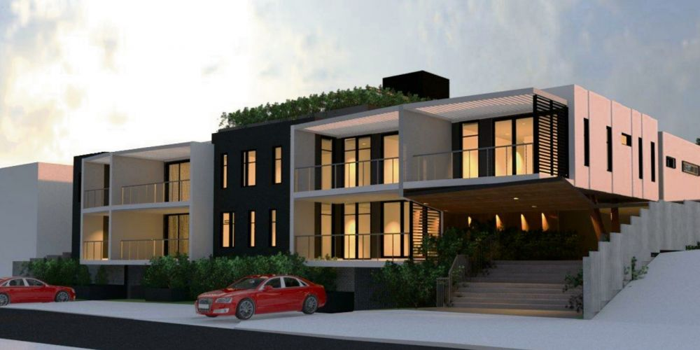 Artist impressions for the proposed 13-unit development across 9 and 11 Davallia Road, Duncraig.