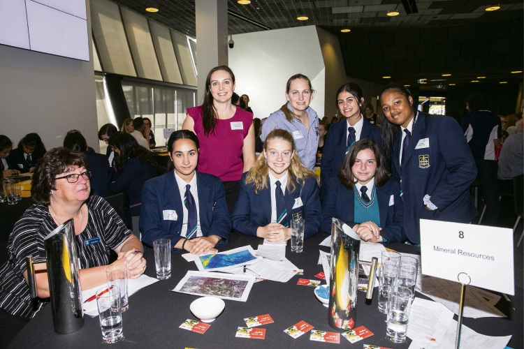 Emmanuel Catholic College students at the Inspiring Girls forum.