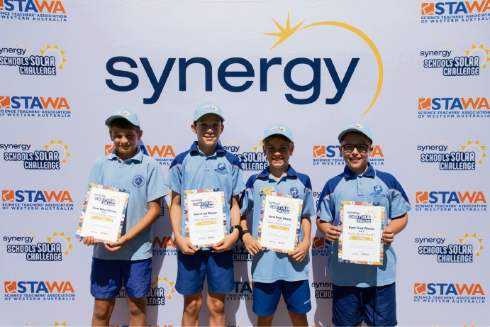 Wembley Primary School students (l-r) Gus Lukatela, Bailey Paton, Cooper Nisbet, Jack Thackray won their part of the competition.