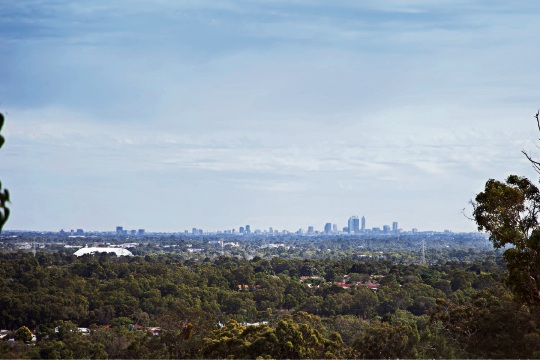 Some Highland Range lots offer views of the Perth city skyline.