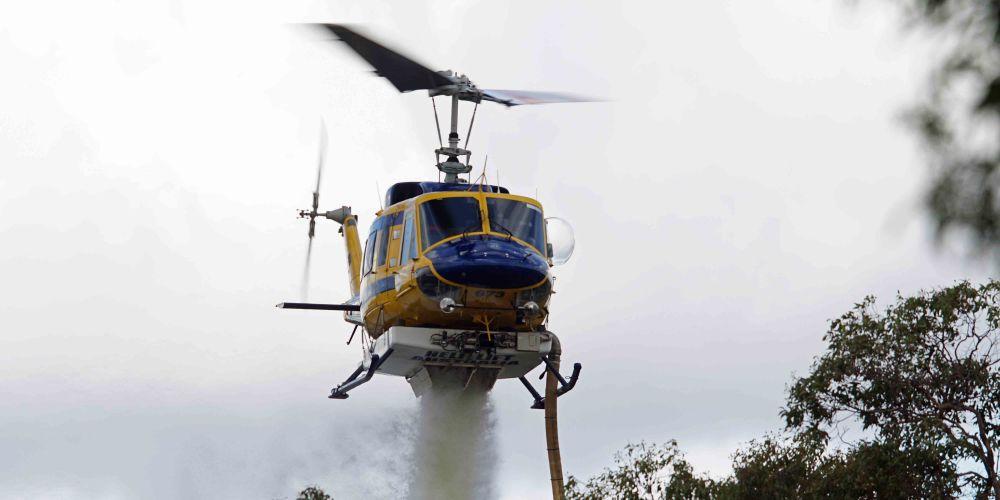 Aerial support has been sent to assist ground crews. Picture: Matt Beilken