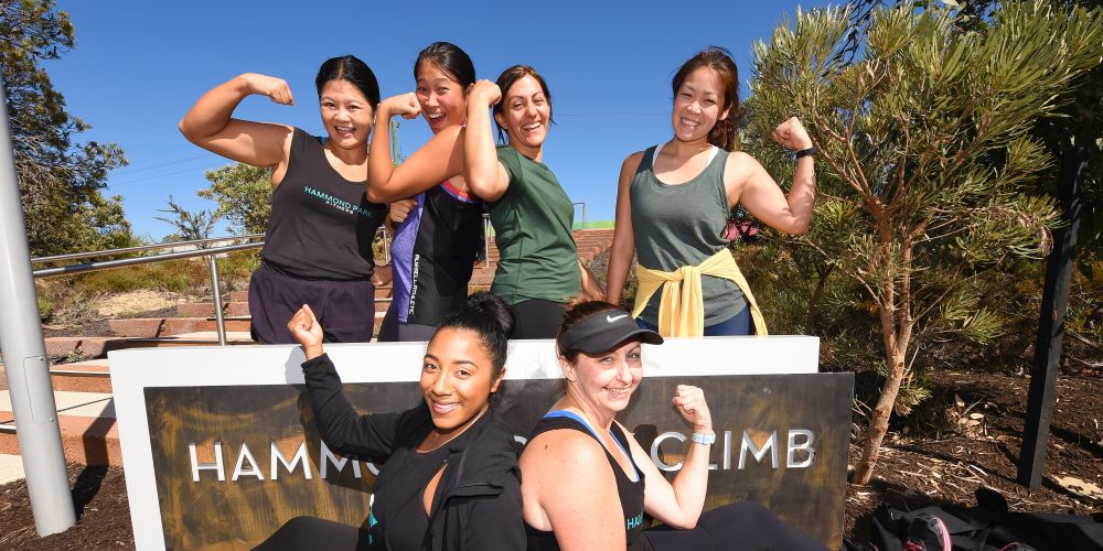 Back- Chin Chin Kang-Carbone, Sharolyn Chua, Giulia Orlando & Stephanie Khoo Front- Cyndi Yearwood & Kione Routley. Photo: Jon Hewson.