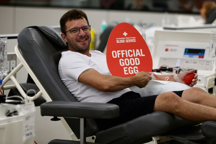Antonio Bergamasco (West Perth). The Australian Red Cross Blood Service needs 382 extra donors to bolster supplies for cancer patients and road trauma patients. They especially need donors on Easter Sunday and Anzac Day. Picture: Andrew Ritchie www.communitypix.com.au   d492135