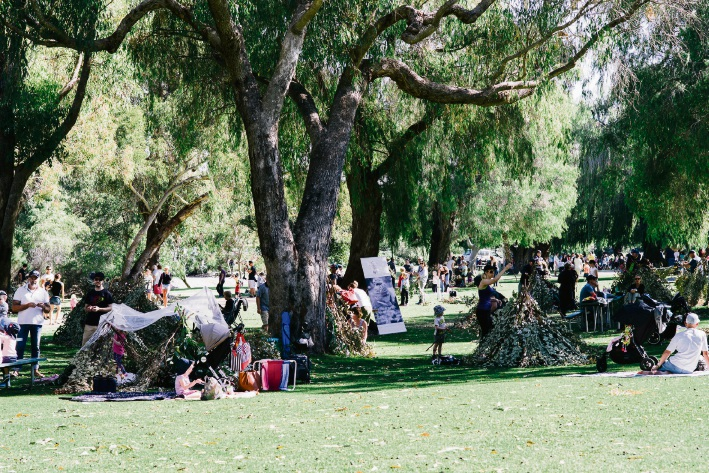About 5000 people attended Cubby Town in 2017 and 2018. File Picture: Nature Play WA