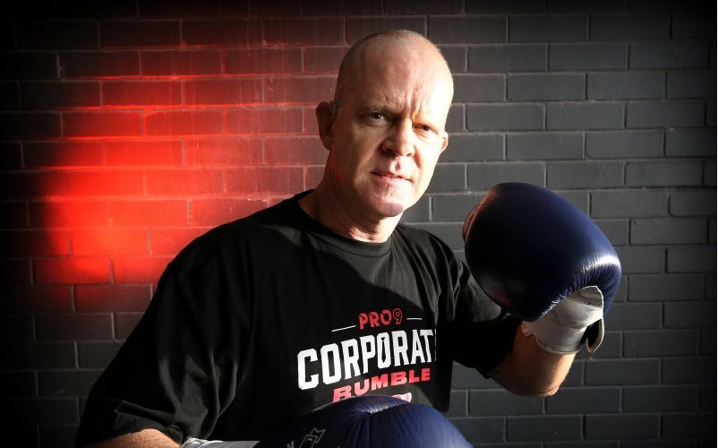 Jason Turner is competing in the pro90 Corporate Rumble, a high profile boxing event for charity, despite being deaf. Picture: David Baylis. d492254