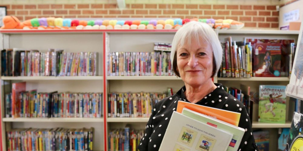 Singleton Primary School librarian Joan Farmer. Photo by Tex Reeks.