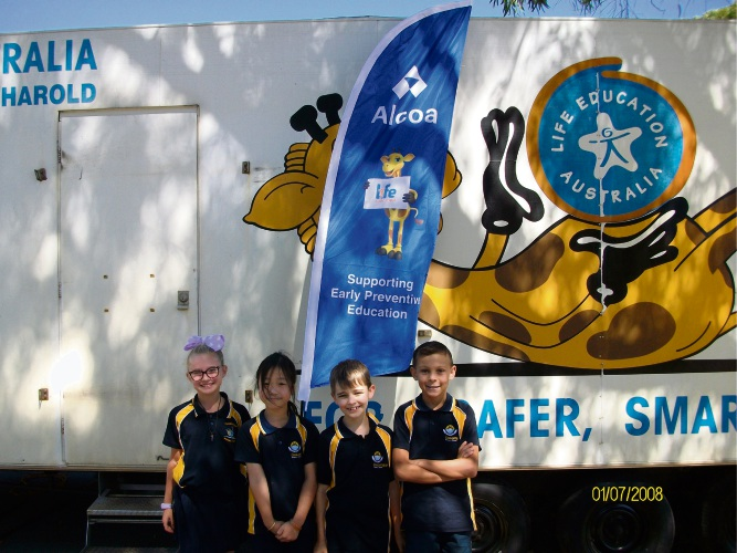 Cooloongup Primary students Kina Ward, Lina Hoang, Lucas Munro and Elijah Ugle.