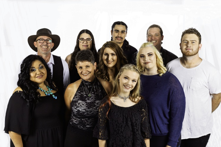 Singer/songwriters involved in the Songs of Hope Project. Picture: Darby Higginson.