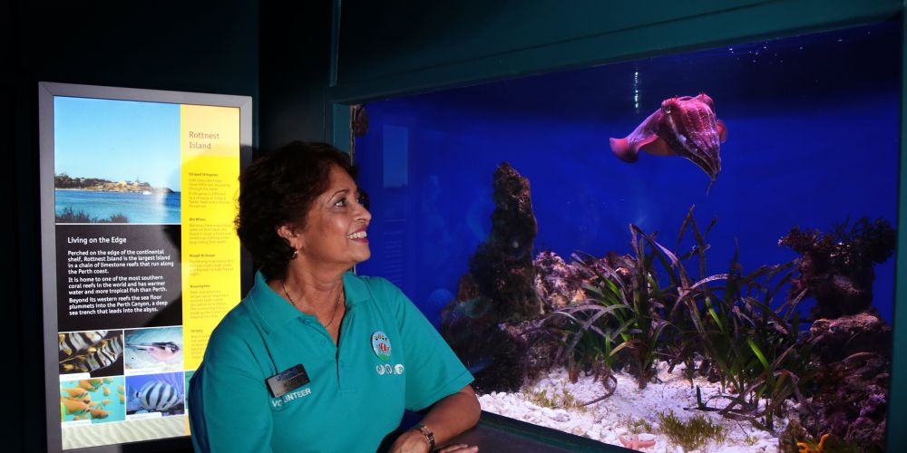 AQWA volunteer Ruby Eagle, of Ocean Reef, has a passion for ocean conservation.