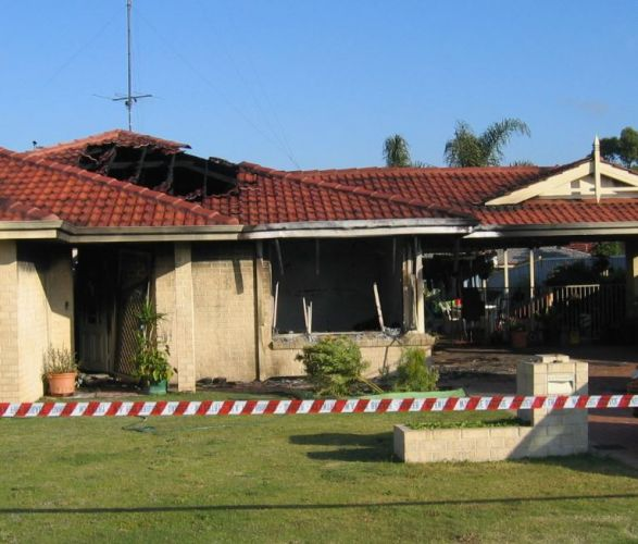 The scene of the fire in 2005.