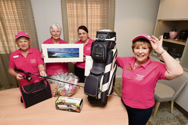 Zonta's Shirley Tidy, Nicky Hooper, Narelle Litchford and Diana Marsh are teeing up to raise thousands of dollars for breast cancer research. Picture: Jon Hewson d492078