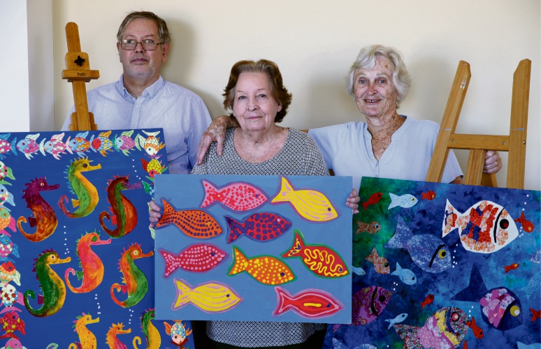Aged care residents showcase art in Scarborough