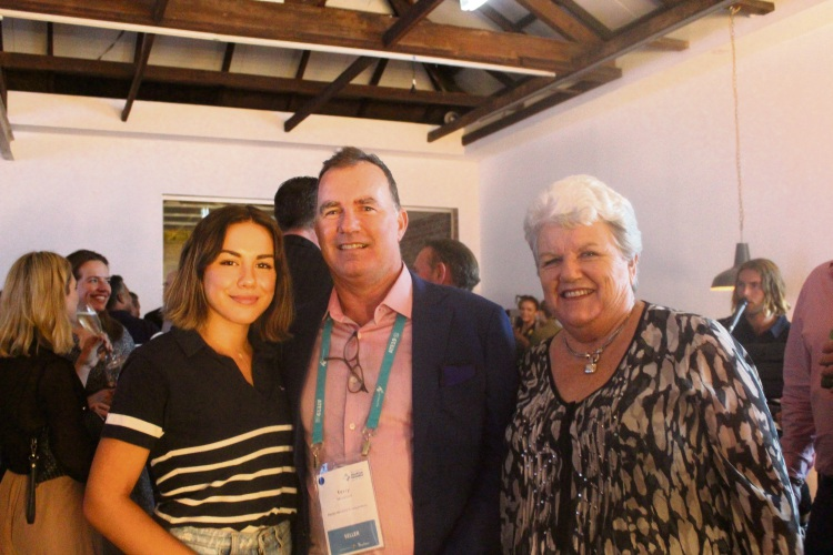 Terry Howson with his daughter Sam (left) and his mum Lesley (right).