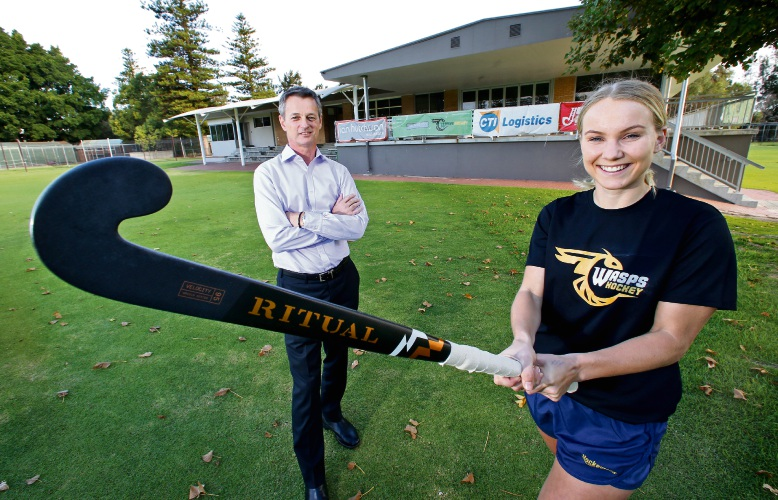 WASPs Hockey Club will relocate to Collier Reserve in Como after increase in players training on synthetic turf, including Premier League player Steph Kershaw. Picture: David Baylis.