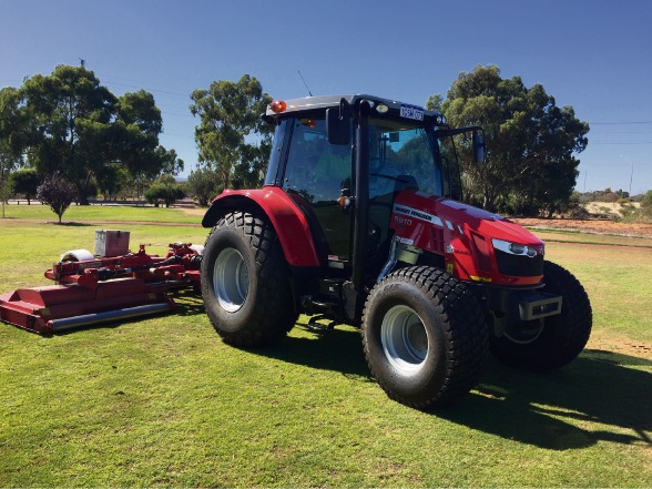 One of the City of Melville's new tractors.