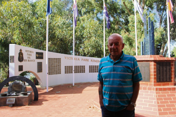 Victoria Park RSL member Jim Lorrimar has spent 20 years in the Royal Australian Navy.