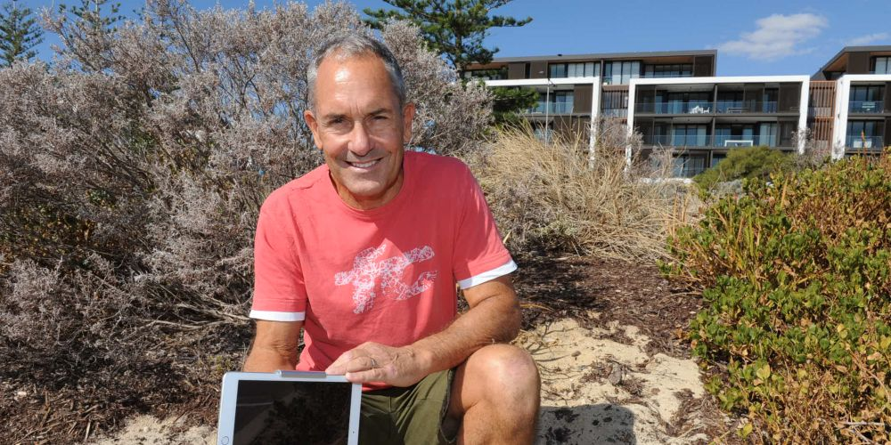 Orange Box owner Trevor White is happy to have the stolen iPad returned.