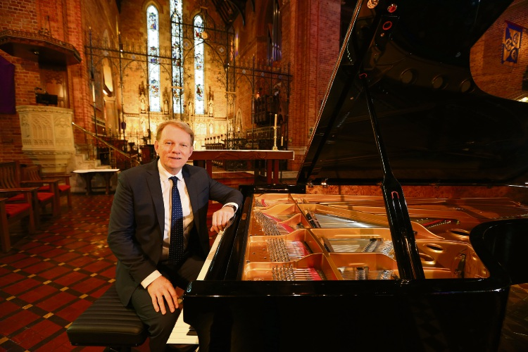 Shenton Park resident Mark Coughlan will launch a Fazioli concert grand piano in May, which was gifted to St George's Cathedral. Picture: Andrew Ritchie www.communitypix.com.au   d492429h