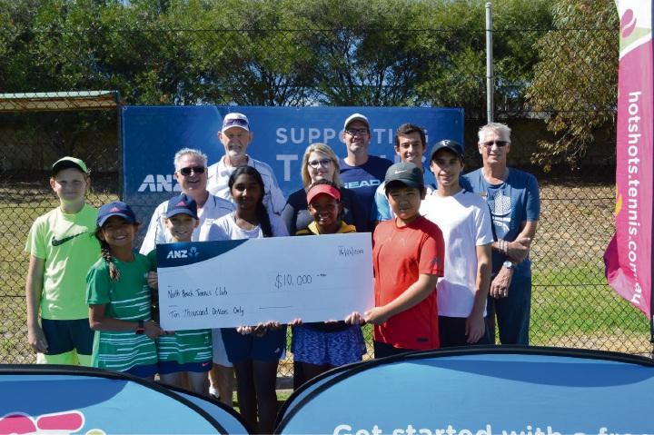 North Beach Tennis Club with the ANZ Community Grant.